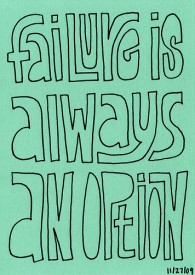 Failure is always an option
