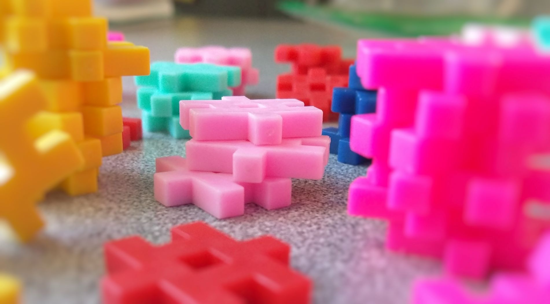 Photo of interlocking plastic toys